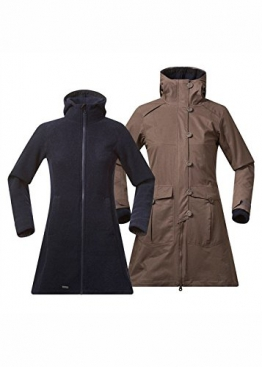 Bergans Damen Mantel Bjerke 3in1 Lady Coat 7525 Clay/MidnightBlue L - 1