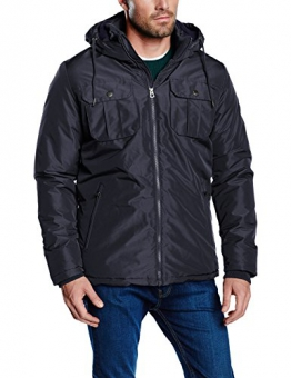 Jack & Jones Herren, Parka, Regenmantel, jjorCANYON SHORT PARKA CAMP, GR. Medium (Herstellergröße: Medium), Blau (black Navy/slim) - 1