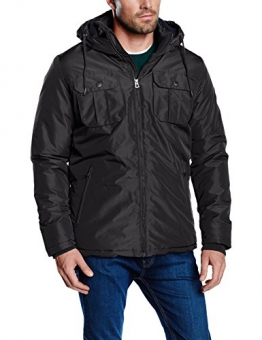 Jack & Jones Herren, Parka, Regenmantel, jjorCANYON SHORT PARKA CAMP, GR. Medium (Herstellergröße: Medium), Schwarz (black/slim) - 1