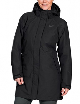 Jack Wolfskin Damen 3-in-1 Mantel Ottawa Coat, Black, XL, 1100923-6000005 - 1