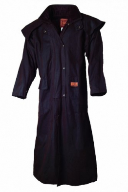 Riding Coat Oilskin Coat , Farben:Braun;Groeße:L - 1