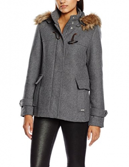 Vero Moda Damen, Parka, Regenmantel, VMCAMILLE JACKET, GR. 38 (Herstellergröße: L), Grau (medium Grey Mélange/natural Color Fake Fur) - 1